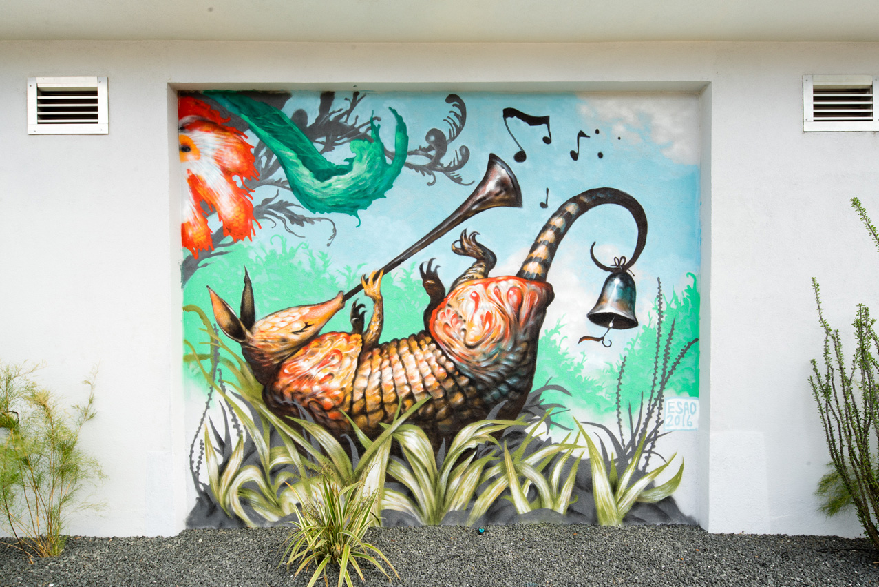 Esao wall pow wow hawaiipow wow hawaii for Austin mural wall